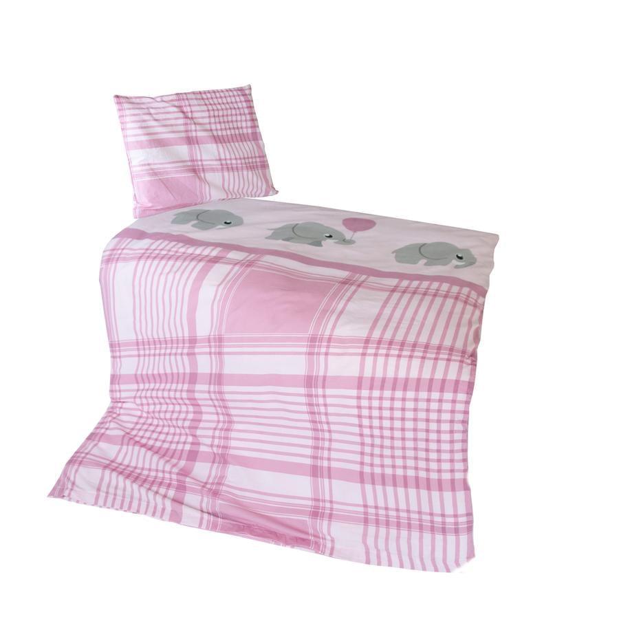 Kiddi Kid® Bettwäsche Elefant rosa  100 x 135 cm