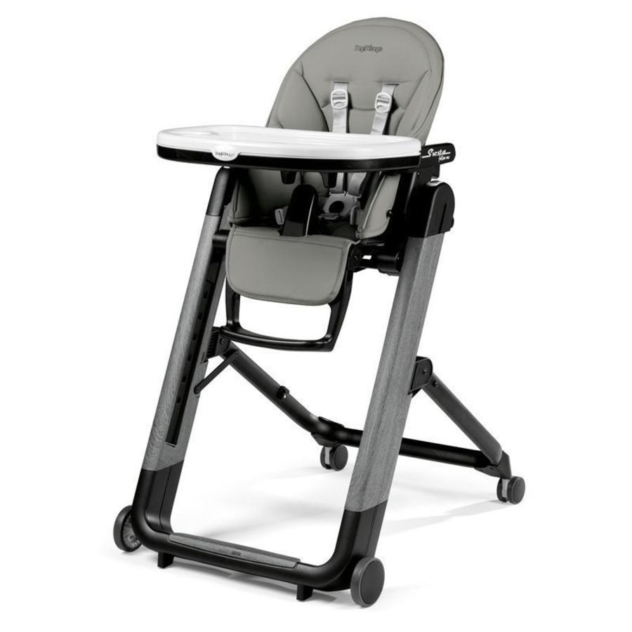 Peg-Pérego vysoká židle Siesta Follow Me Ambiance Grey (imitace kůže)