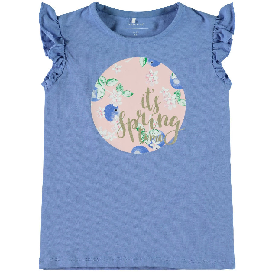 name it Girl Top Dedina Top Bonnet Bleu Dedina