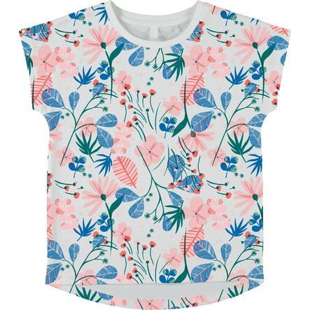 name it Gilrs T-Shirt Vigga jasne białe kwiaty.