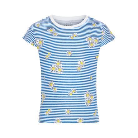 name it Gilrs T-Shirt Vigga bright white blue stripes
