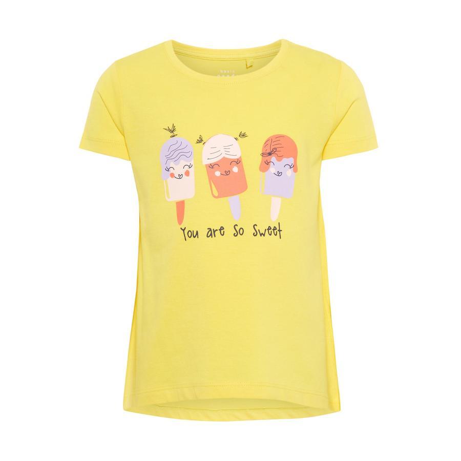 name it Girl s T-Shirt Fioletowo-żółty, fioletowy, żółty