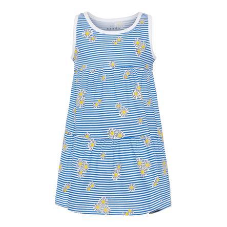 name it Dress Vigga B right White Blue Stripes & Blomma