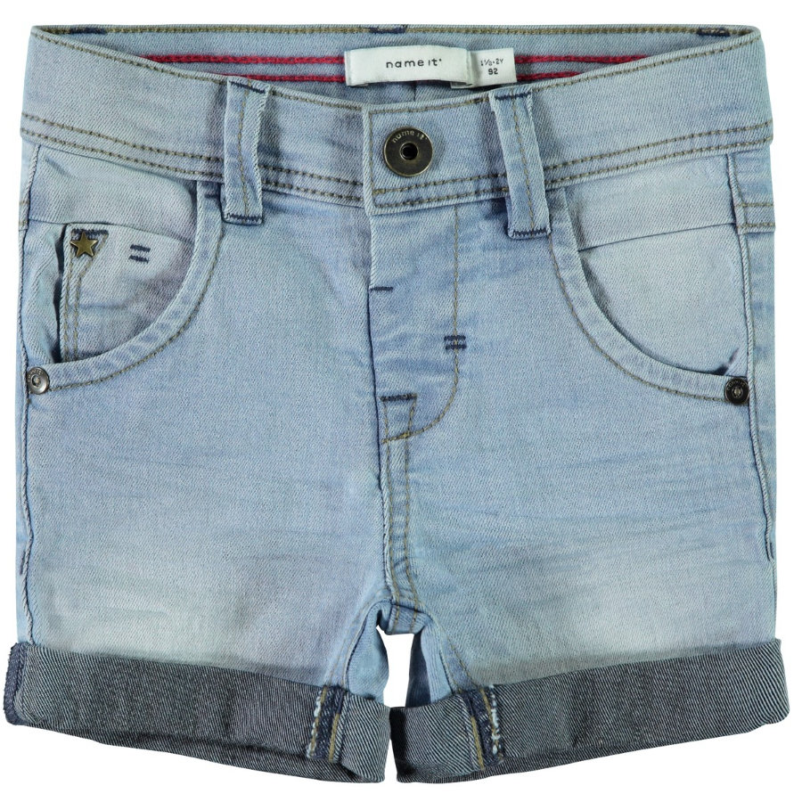 name it Boys Jeans Shorts light blue denim