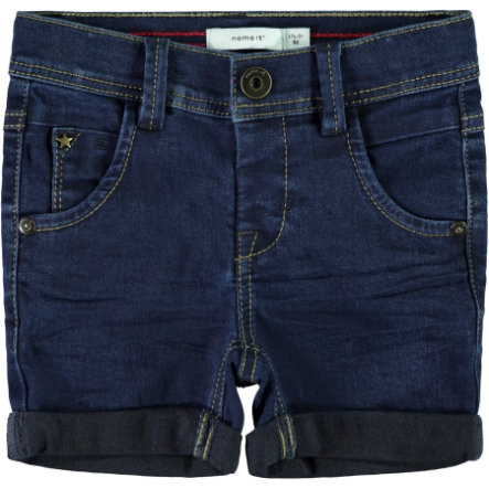 name it Boys Jeans Shorts dark blue denim