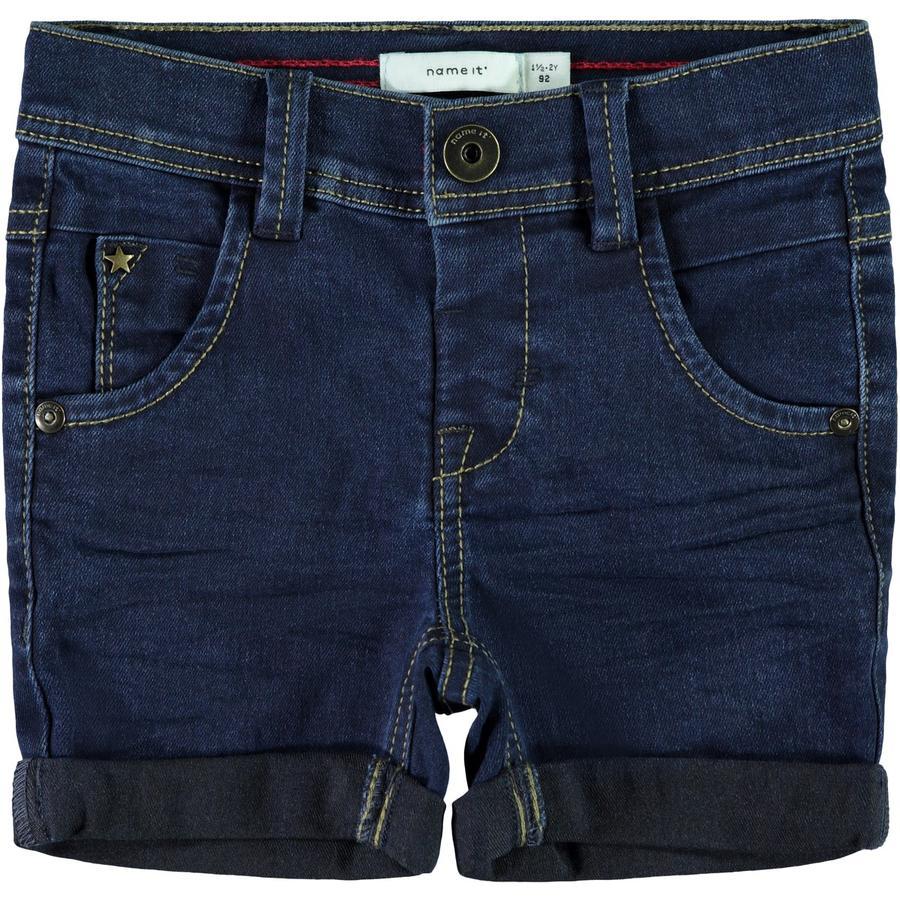 name it Chlapecké džíny Shorts tmavě modrá džínovina