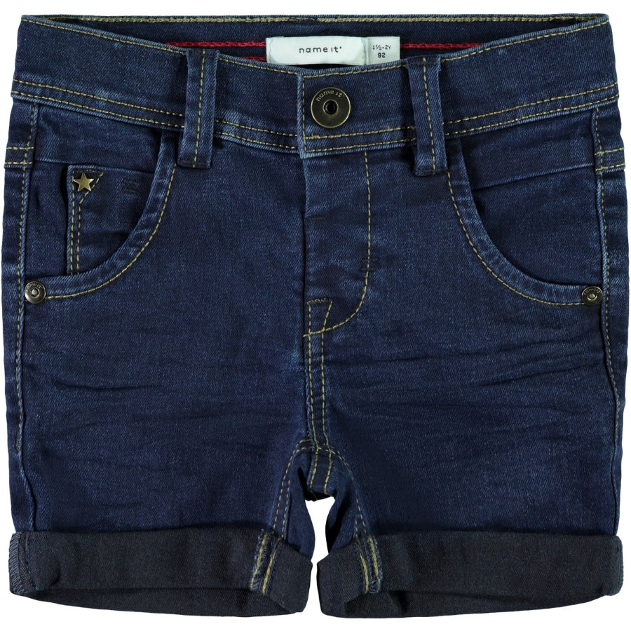 name it Boys Jeans Shorts black denim
