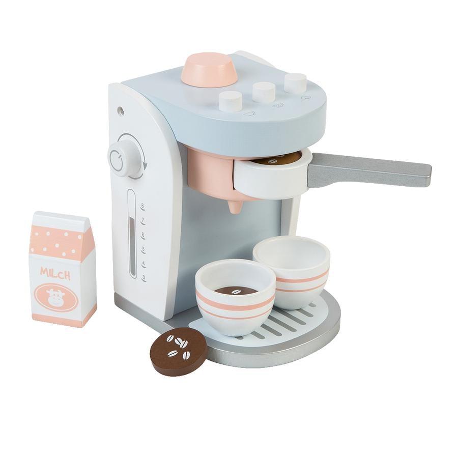 MUSTERKIND® Machine à café enfant Olea bois, blanc/gris bleu
