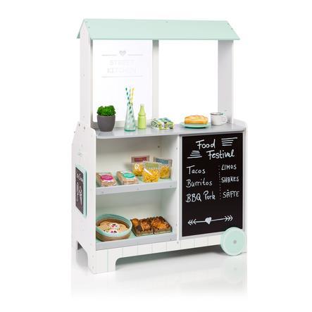 MUSTERKIND® Kaufladen Street Kitchen Piperis, weiß/grau/mint