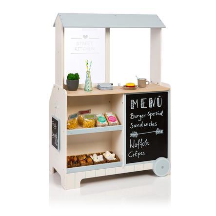 MUSTERKIND® Kaufladen Street Kitchen Piperis, creme/graublau