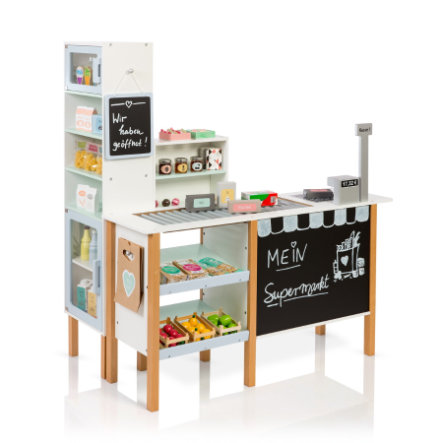MUSTERKIND® Butik Supermarket Alnus, vit/gråblå