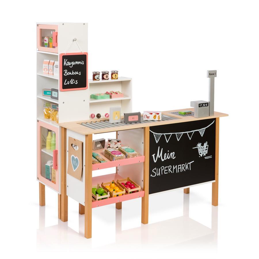 MUSTERKIND® Kaufladen Supermarkt Alnus, weiß/apricot