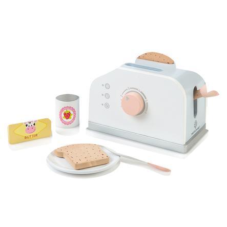 MUSTERKIND® Toaster-Set Olea, weiß/graublau