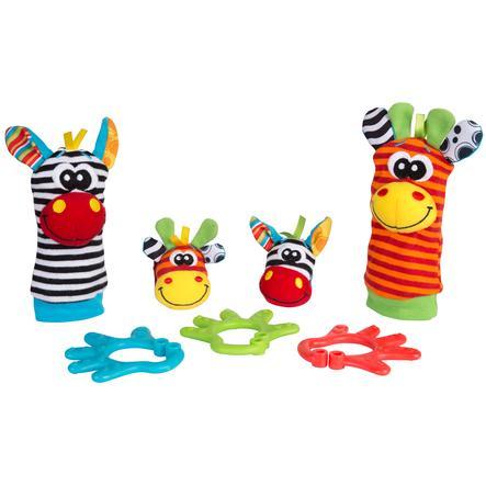 playgro Geschenkset Dschungelfreunde mit Hand- und Fußgelenksrasseln