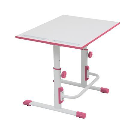 POLINI Kids desk Simple M1 white-pink