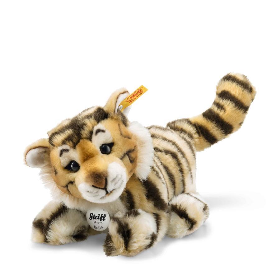 STEIFF Radjah Baby Dangling Tiger, 28 cm, resting
