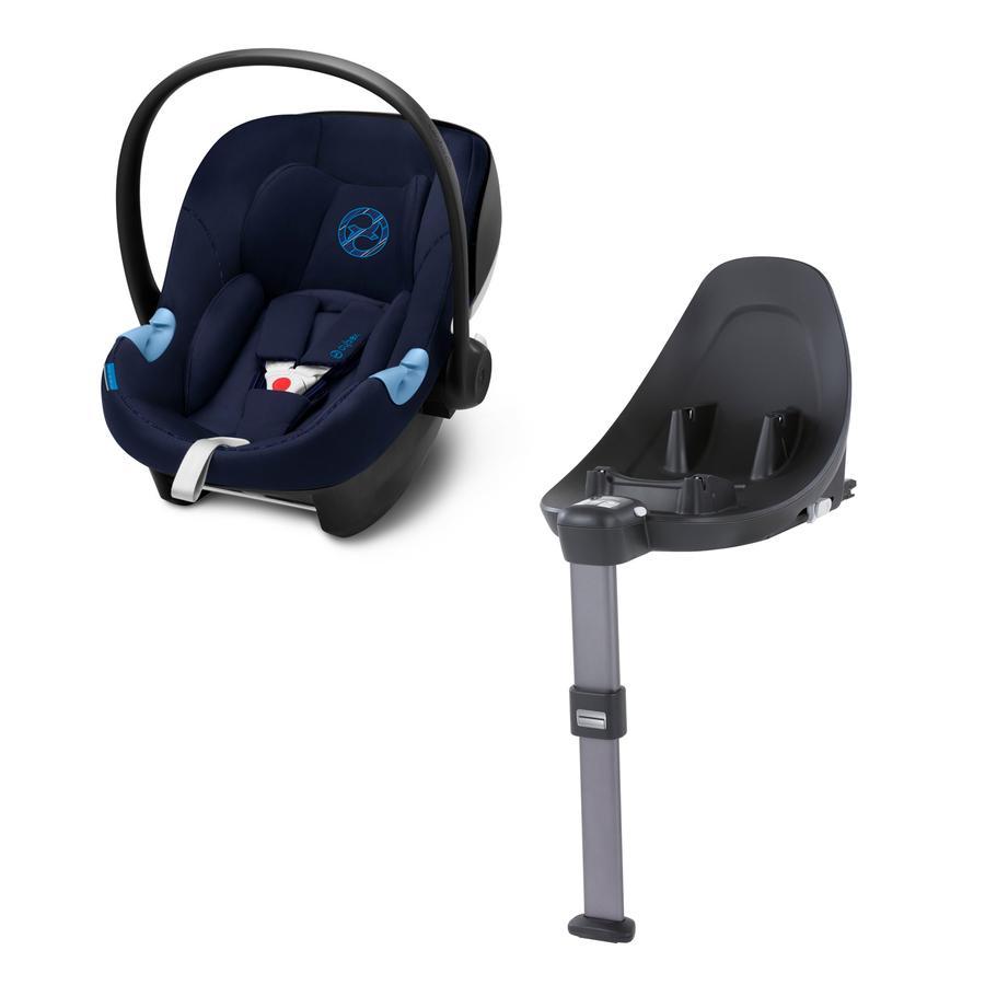 cybex GOLD Aton M i-Size babybilstol med base: Base M Indigo Blue