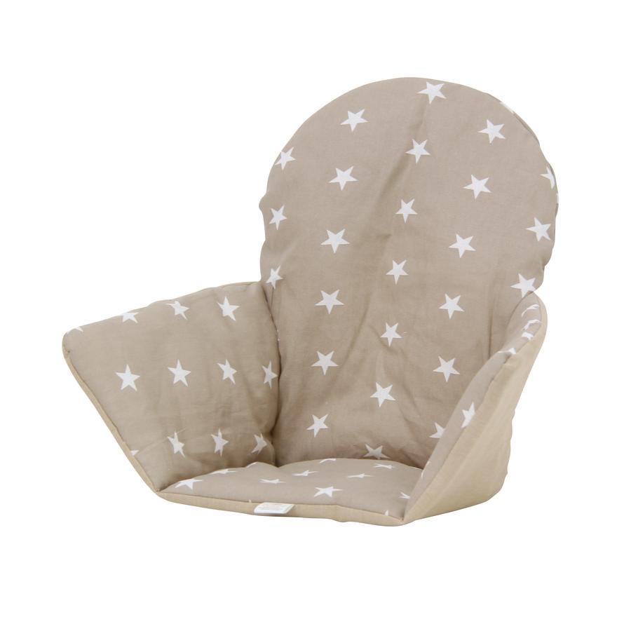 Polini Kids sædehynde til Ikea højstol antilop stjerner macchiato