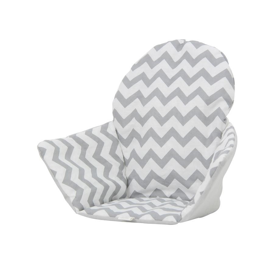 Polini Kids Sitzkissen für Ikea Hochstuhl Antilop Zickzack weiß grau
