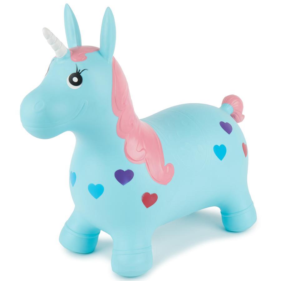 bieco Bouncing Horse Unicorn oppustelig