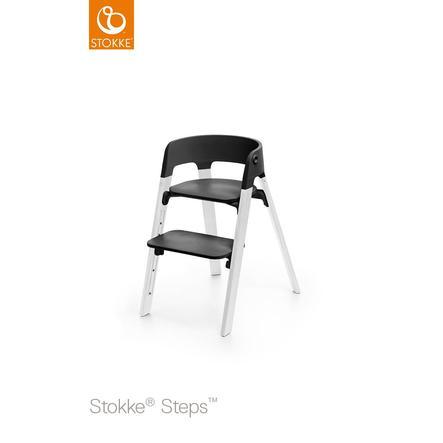 STOKKE® Steps™ Hochstuhl schwarz Eiche white