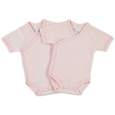 pink or blue Girls Newborn slå - om - body 1/4 - ærmer, sæt i 2 dele, rosa