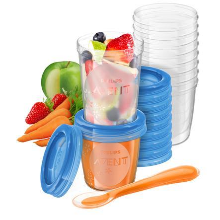 Philips Avent Almacenamiento de alimentos infantiles SCF721/20 10 x 240 ml, 10 x 180 ml