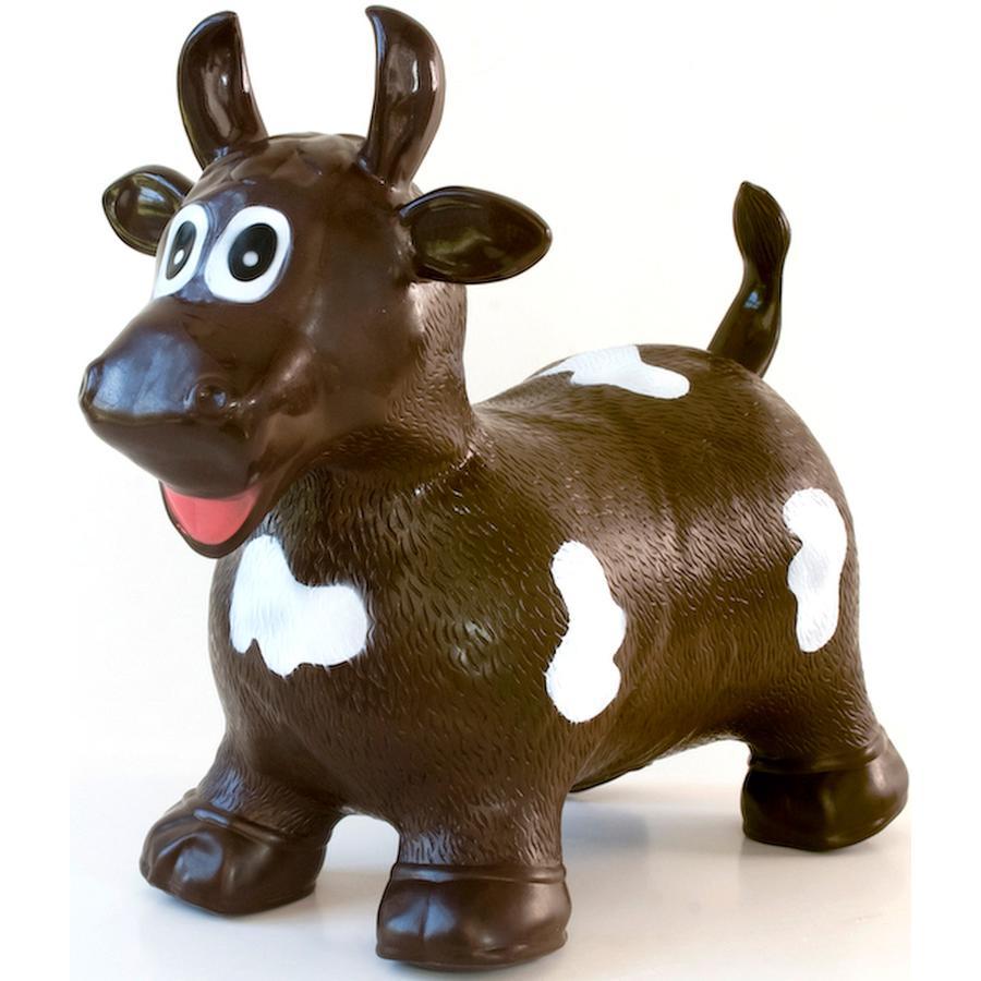 BABYGO Pomppueläin lehmä, ruskea