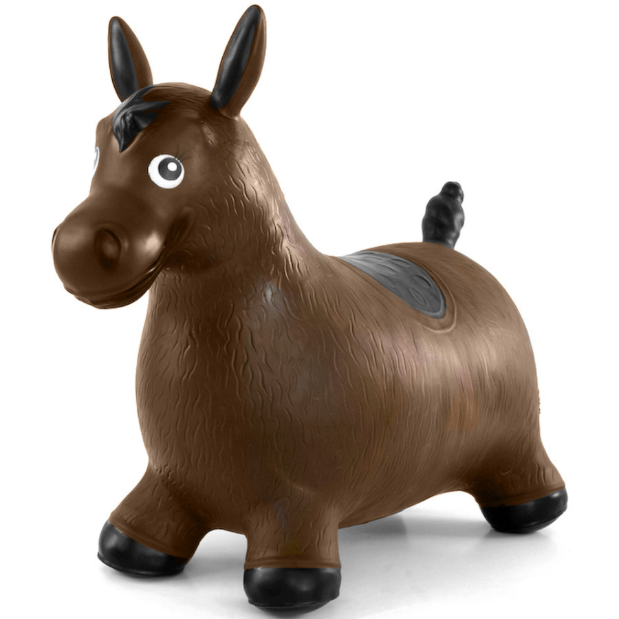BABYGO Pomppueläin hevonen, ruskea