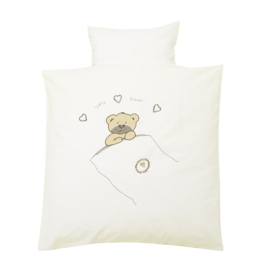 ALVI Juego de sábanas con aplicación Little bear beige 80x80