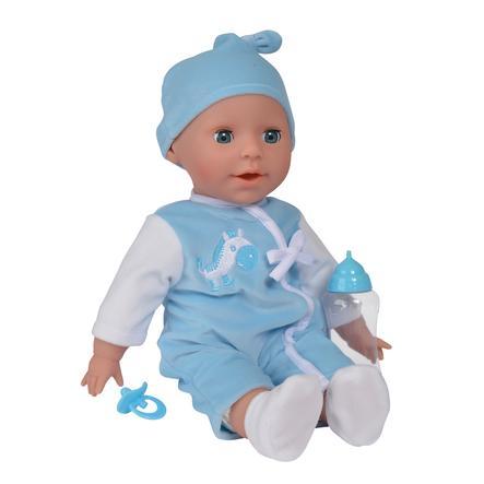 Simba New Born Baby Laura Brabbeltaaltje blauw