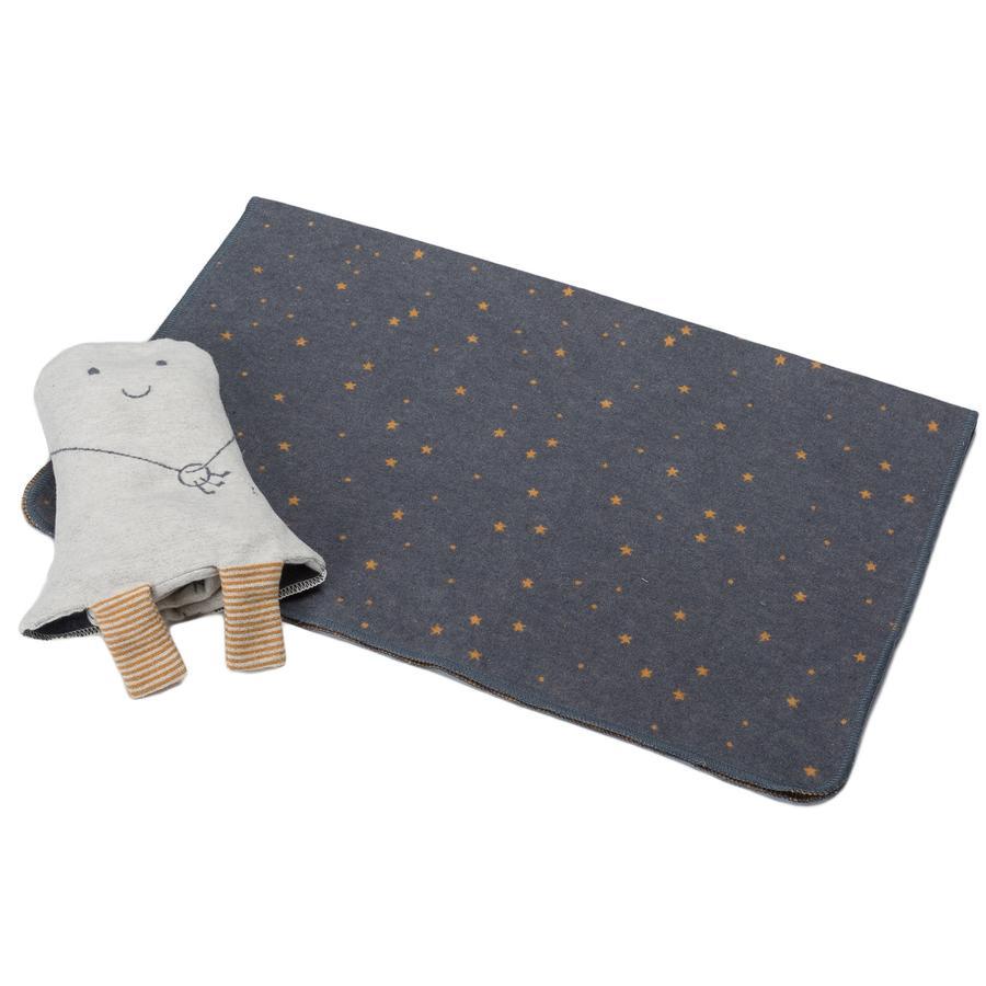 DAVID FUSSENEGGER Set Decke in Puppe Gespenst grau 70 x 90 cm