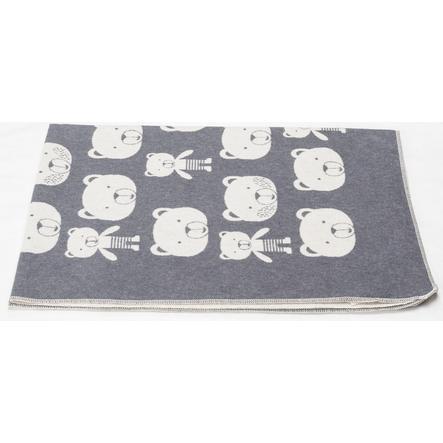 DAVID FUSSENEGGER dekenberenkoppen grijs 100 x 140 cm