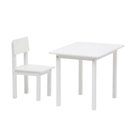 Polini Kids Conjunto mesa y silla infantil Simple 105 blanco