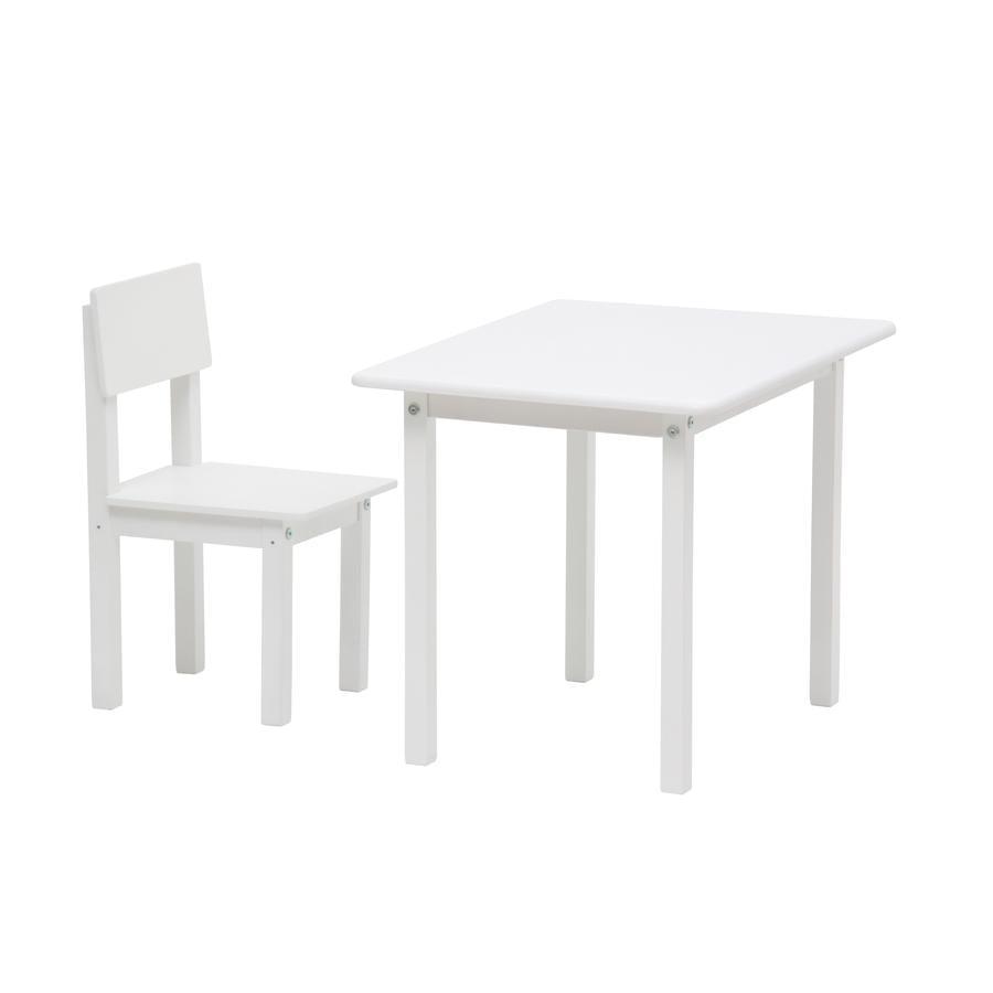 Polini Kids Ensemble table enfant et chaise Simple 105 bois blanc