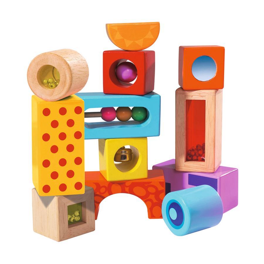 EICHHORN Color, stavící kostky se zvuky, 12 kusů