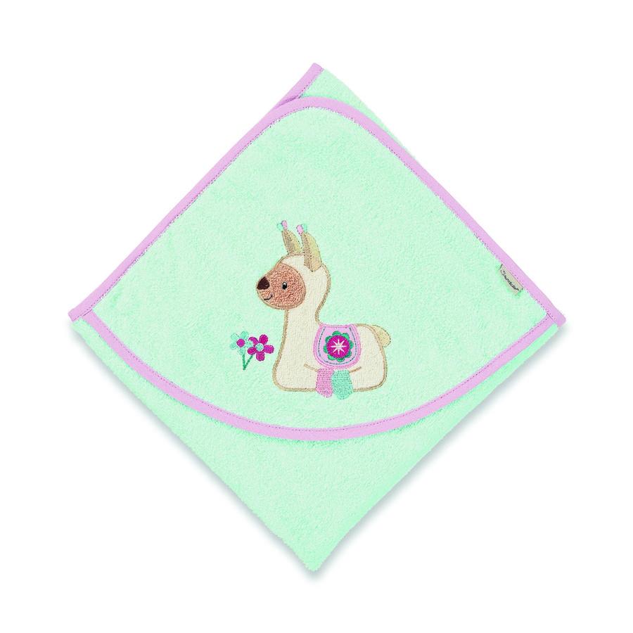 Sterntaler badehåndklæde Kuschelzoo Lotte mintgrøn 80 x 80 cm