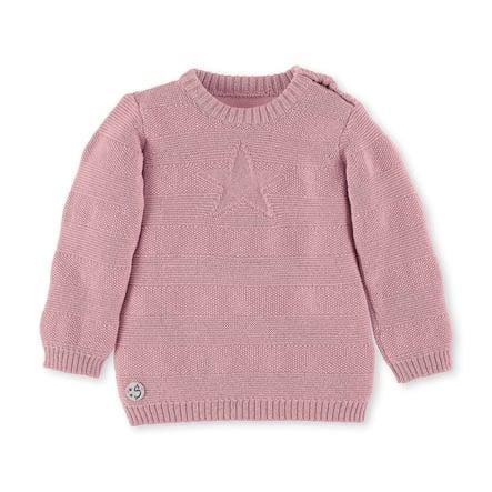 Sterntaler svetr z úpletu růžová