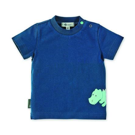 Sterntaler tričko s krátkým rukávem Kuschelzoo Konrad nebeská modrá