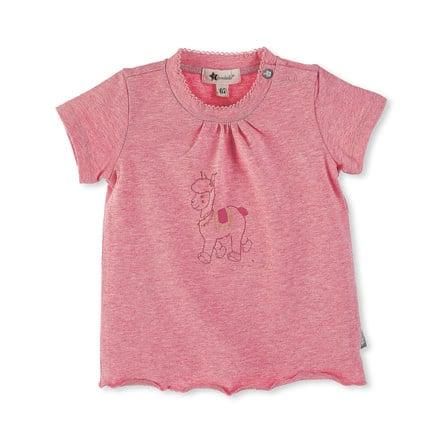 Sterntaler Maglietta a maniche corte Lotte il lama rosa melange