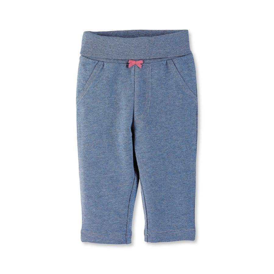 Sterntaler Girl s Spodnie średnio-niebieski melange