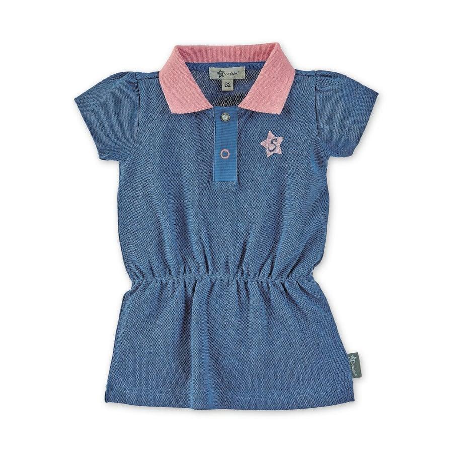 Sterntaler Polo-Kleid mittelblau