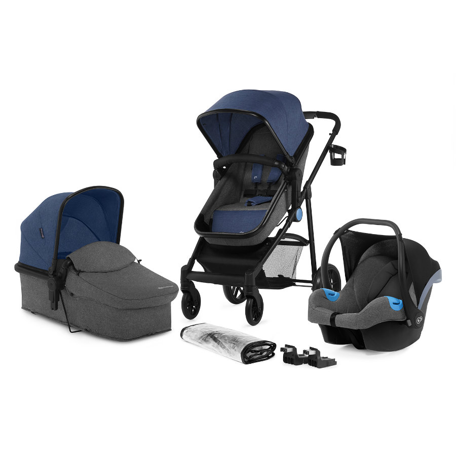 Kinderkraft Kombikinderwagen Juli 3 in 1 denim