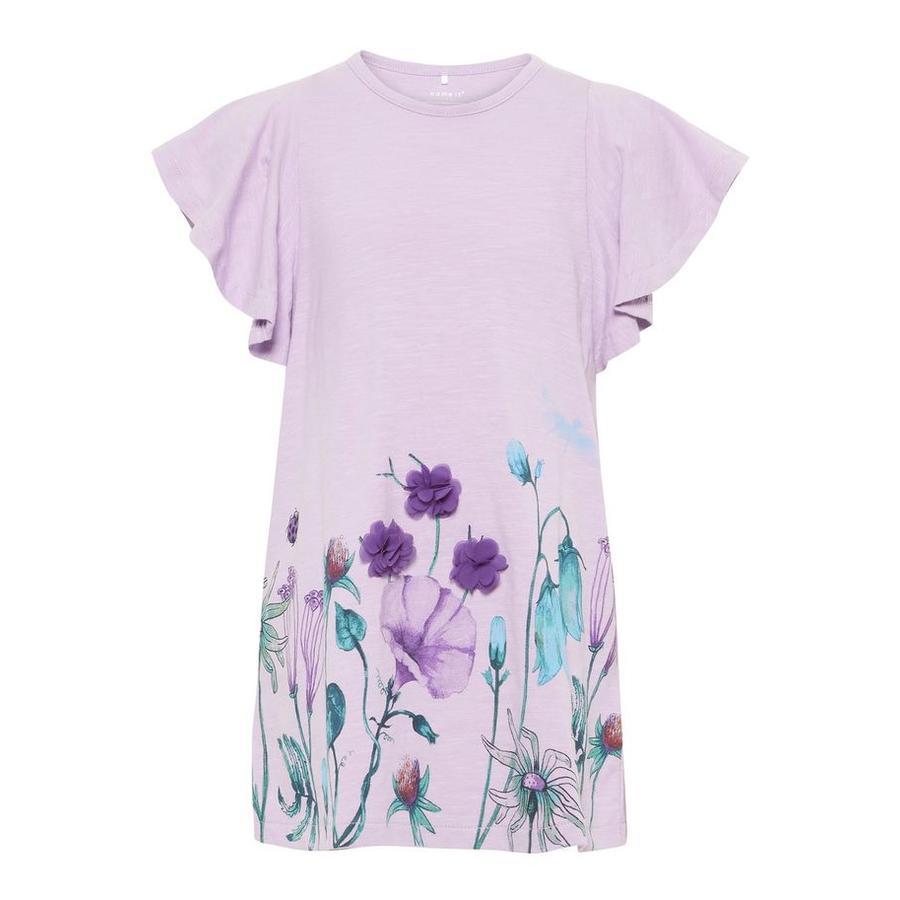 name it Girl s T-Shirt Halizette Lavendula