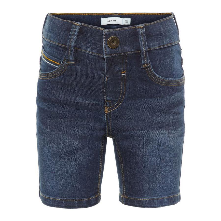 name it Boys Shorts Sofus dark blue denim