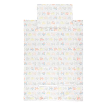 LITTLE Vuodevaatteet Juicy Beat Elephant 100x135 cm