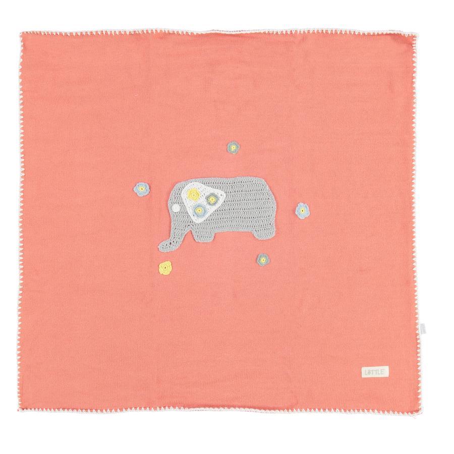 LITTLE Decke Juicy Beats Elefant 80x80 cm