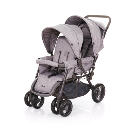 ABC DESIGN Geschwisterwagen Tandem Circle woven-grey