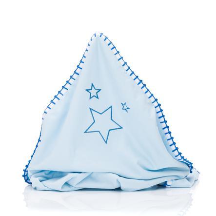 fillikid Couverture bébé Jersey Esmeralda bleu 75x100 cm