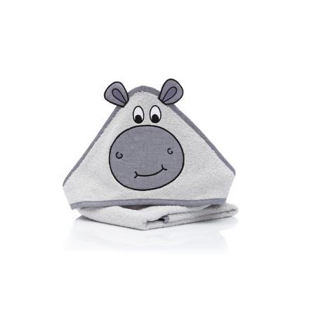 fillikid  Afsluitbare badhanddoek met kap nijlpaard 75 x 75 cm